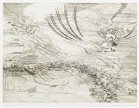 landscape allegories (7 works) by julie mehretu