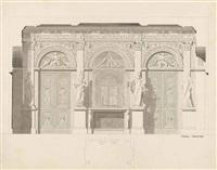 projet pour la galerie des antiques au musée du louvre by charles percier