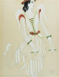projet de costume de ballet by boris bilinsky