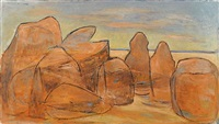 landscape with boulders west by valerie (cohen) albiston
