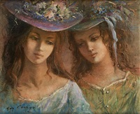 les deux amies by guy cambier