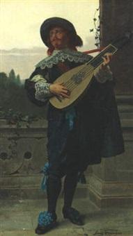 a guitar player by franz meyerheim
