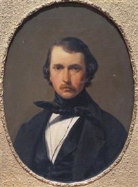 portrait du peintre gustave saltzmann by charles caius renoux