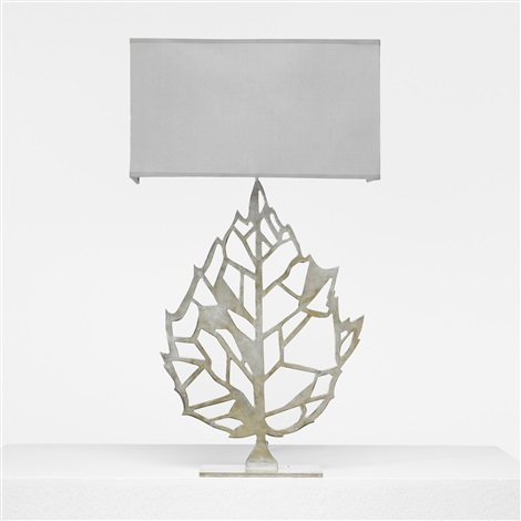leaf table lamp by maria pergay