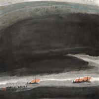 山水 (landscape) by lei zhuohua