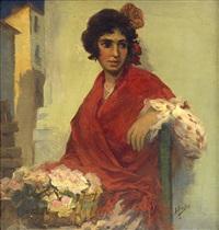 la florista del mantón rojo by e. sanz sanz