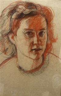 woman's portrait by abram adolphe milich