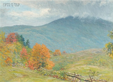 early autumn trees by john joseph enneking