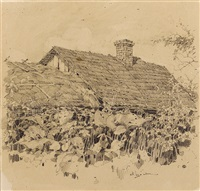 roof of a peasant house by mikhail markelovich guzhavin