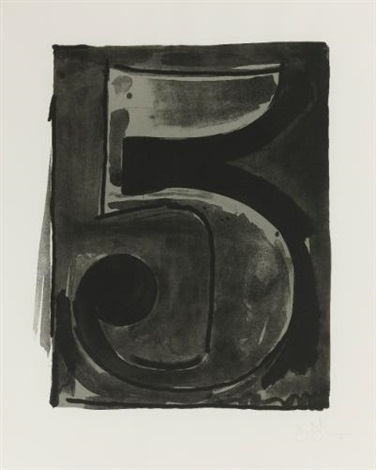 figure 5 (from black numerals series) by jasper johns