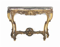a louis xv style giltwood and marble top console table by anonymous-french (20)