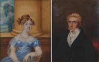 portrait of a lord (+ portrait of a lady; 2 works) by william hudson