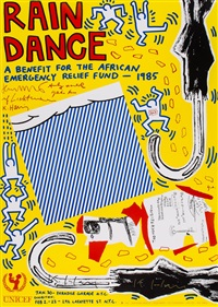 rain dance by keith haring