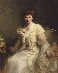 portrait of mrs. haslam by hugh de twenebrokes glazebrook