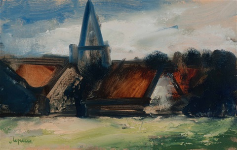 village church by johan hendrik van ieperen