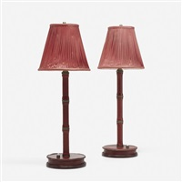 table lamps (pair) by jacques adnet