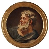 evangelisterna matteus och lukas (pair) by carl fredrik van breda