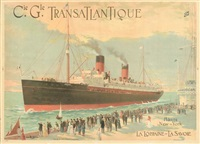 cie. gle. transatlantique/hâvre/new-york by fernand le quesne