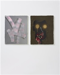 wort, unnötigl (+ widerstand zwecklos; 2 works) by andreas golder