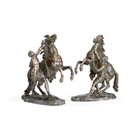 marley horses (pair) by guillaume coustou the elder