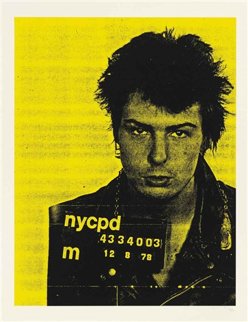 sid vicious from mugshot series by russell young