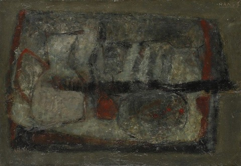 nature morte, fond gris by paul rambié
