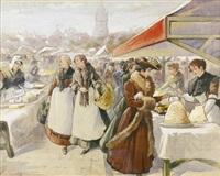 markttag in flandern by wilhelm bataille