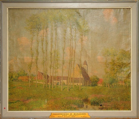 countryside in burgundy by marcel adolphe bain