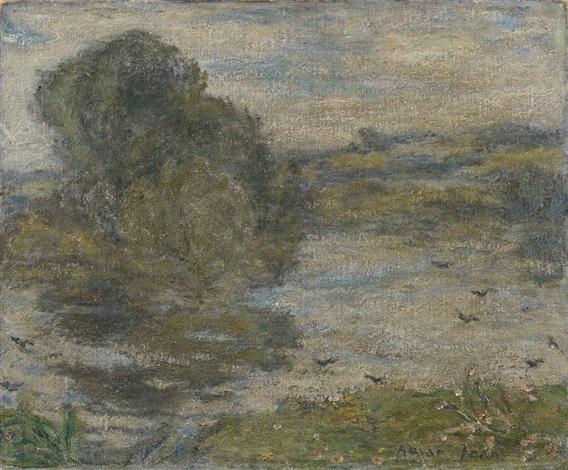 paysage avec étang bourg en bresse by edmond françois aman jean