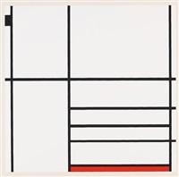 composizione con rosse e nero by piet mondrian
