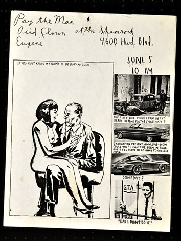 group of la show flyers 45 works by raymond pettibon