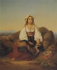 an italian goatherdess by emil löwenthal