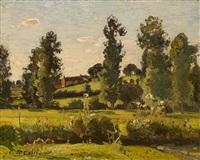 sommerliche landschaft by louis alexandre cabié