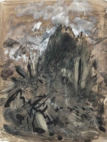 rocks on glyder fawr north wales by john piper