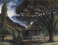 the barn among the trees, jambaroo, new south wales by george bernard duncan