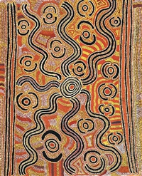 ngarlkirdi jukurrpa (witchetty grub dreaming) by japaljarri paddy sims