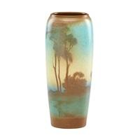 scenic vellum vase by lenore asbury