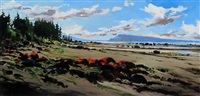 behind the tide (toward denman island) by allan dunfield