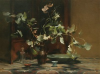 box of leaves and bowls by hilary jackman