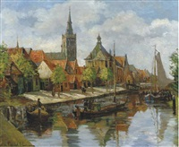 the harbour of oudewater by anna lehmann