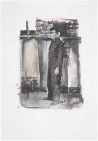 untitled (study for self portrait standing) by adrian ghenie