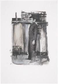 untitled (study for self portrait standing) by adrian ghenie