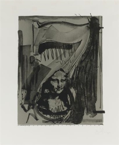 figure 7 from black numerals series by jasper johns