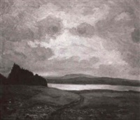landschaft mit see by august aldinger