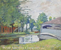 the canal at lake winona by william forsyth