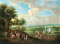 celebration with erection of a maypole by anonymous-flemish (17)