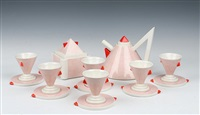 nefertiti tea set by matteo thun