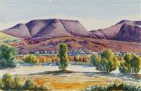 central australian landscape by herbert raberaba