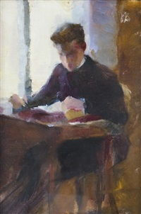 julius hirn reading by magnus enckell