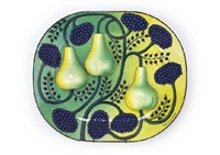 decorated plate : paratiisi by birger kaipiainen